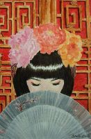 Graceful Geisha - watercolor by Giselle-M