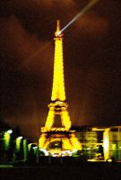 Eiffel Tower at Night III by Sparkyredboy