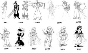 Shoju over the years by HolyLancer9