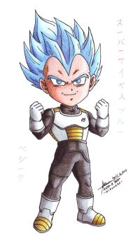 Vegeta 13: Chibi SSJ Blue by hirokada