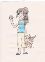 Holly, pocket monsters trainer~ (Colored) by ChibiMousey