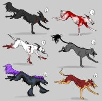 Hellhound Adoptables CLOSED by wingedness
