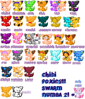 The Chibi Fox Army-Swarm 2 by inuamy