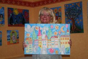 A smile with newest painting by ingeline-art
