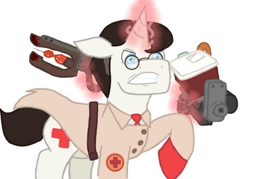 Battle Medic (Art trade: 23QuestionMark) by WereWolfBubbleGum
