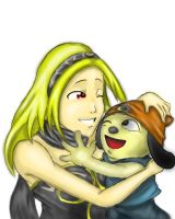Kat and Parappa by Shynox