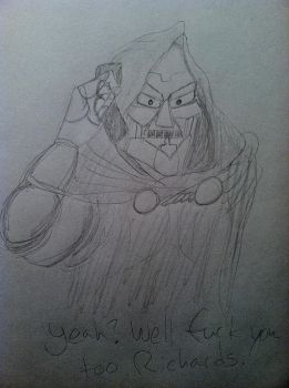 Doctor Doom on the phone by DoomBerry83