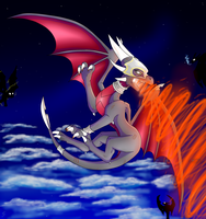 Fight above Clouds by IcelectricSpyro