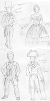Costume class Sketch dump by KatOtter
