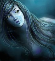 Speed Paint: Blue Mermaid by stargate4ever23