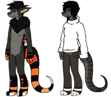 Anthro Dragon Adopts [0/2 Open] by Mulch-Adopts
