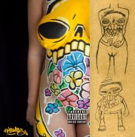 Skull Body Painting by MarcosMachina