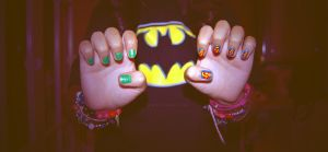 Superman-Green Lantern nails by martinrivass