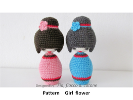 pattern Girl Flower by cottonflake