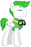 Green Wing - Pony OC by pepooni