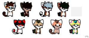 Huge Kitty Batch - OPEN. by Wolfies-Creatures