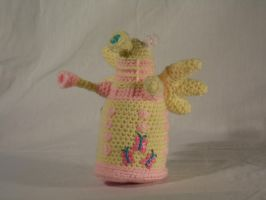 My Little Dalek- Fluttershy by Country-Geek-Crochet