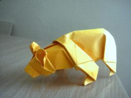 Origami Bear by Stephen Weiss by minaret123