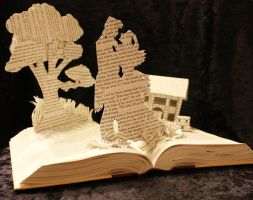 Gone With The Wind Book Sculpture by wetcanvas