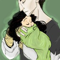 Kozmotis Pitchiner and his baby Seraphina by Foxoon13