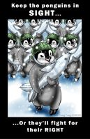 Penguin War Poster by MaeMaeTwin