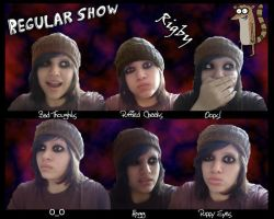 Regular Show::Rigby's faces by natalia010995