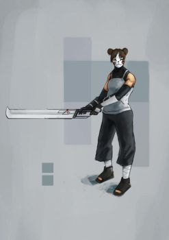anbu tenten colour by GrapeWar