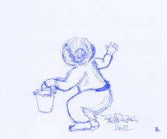 girl with bucket by brijome