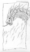 Random pencil dragon by teblad