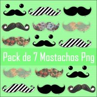 Pack de Mostachos Png by MartiSmiler