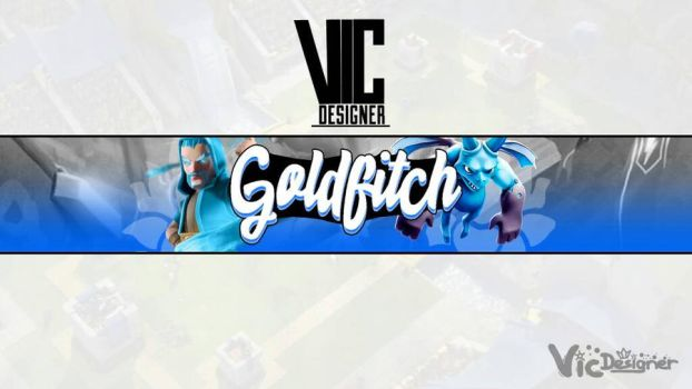 banner goldfitch by chiefvicdesign