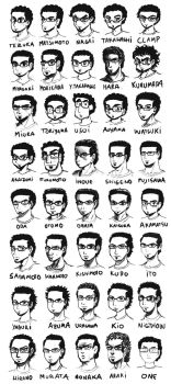 My Face in Different Manga Styles by DPinedaIlustraciones