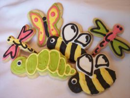 Assorted Bug Cookies by eckabeck