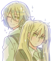 Golden Pair [back to back] by Cioccolatodorima