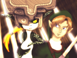 Midna and Link by Verdot