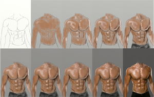 How To Draw Muscles by dubz002