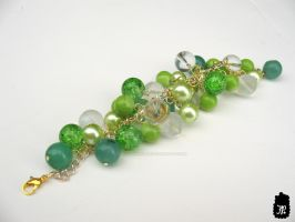 Peas in a Pod Cluster Bracelet by TheFuzzyPineapple