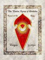 Middle-earth heraldry: Turgon (King) by Aglargon