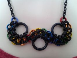 Rainbow Wave Necklace by wirewear