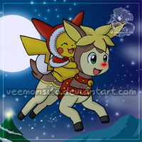 Merry Pokemon Christmas by Veemonsito