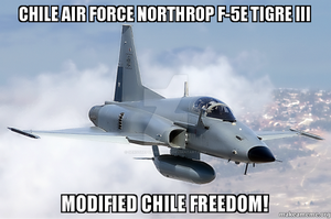 Chile Air Force Northrop F-5E Tigre III by Hellomon100