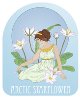Arctic starflower by Morloth88