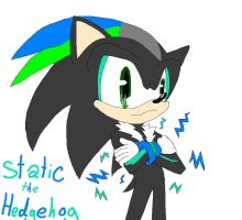 Static the hedgehog-fan by Shontiachaosmaster