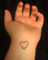 Heart On My Wrist by That1PersonUForgot