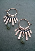 earrings with labradorite by nastya-iv83