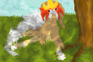 Entei under Tree fixed by JuggalettaGurl