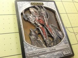 3D Golem Magic Card by XxozzybrookexX