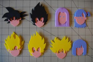 Foam Faces: DBZ by Meika02
