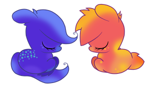 Sleeping Sisters by KomaedaKitten
