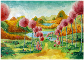 Truffula Trees Painting by Mimint